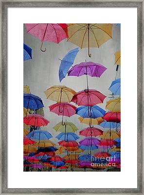 Umbrellas Framed Print by Jelena Jovanovic