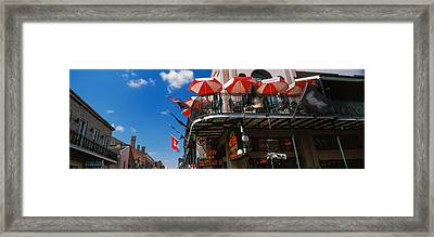 Umbrellas On A Restaurant, Big Easy Off Framed Print by Panoramic Images