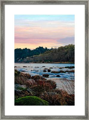 Umpqua Sunset Framed Print by Pamela Winders