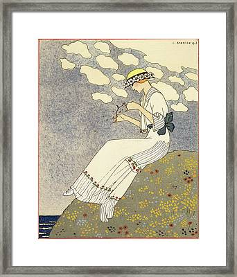 Un Peu... Framed Print by Georges Barbier