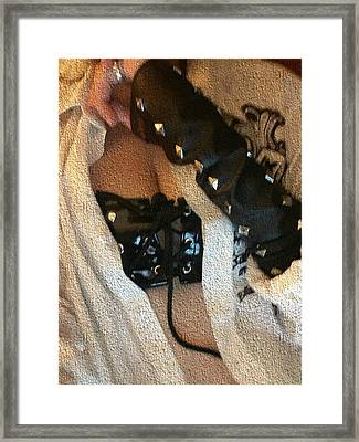 Unbuttoned Framed Print by Crys Wheel
