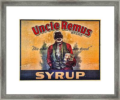 Uncle Remus  Framed Print by Lee Dos Santos