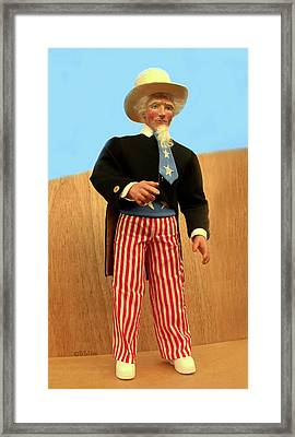 Uncle Sam Framed Print by David Wiles