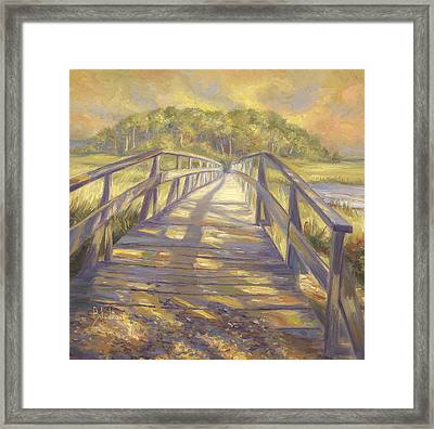 Uncle Tim's Bridge Framed Print by Lucie Bilodeau