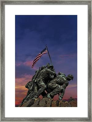 Uncommon Valor Was A Common Virtue Framed Print by Susan Candelario