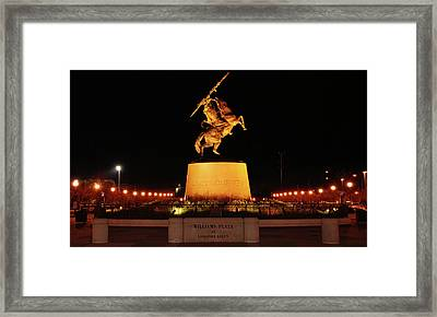 Unconquered At Williams Plaza On Langford Green Framed Print by Frank Feliciano