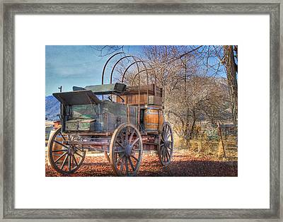 Uncovered Wagon Framed Print by Donna Kennedy