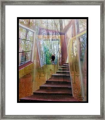 und hol mir den Herbst ins Haus Framed Print by Gertrude Scheffler