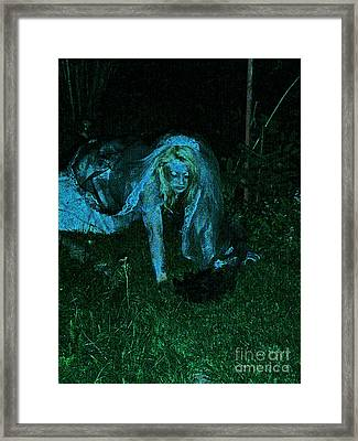 Undead Love Framed Print by First Star Art