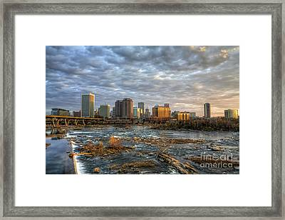 Under A Golden Sky Framed Print by Tim Wilson