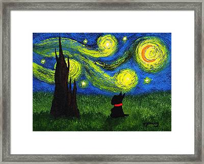 Under A Starry Night Framed Print by Todd Young