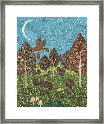 Under A Starry Sky Framed Print by Pamela Schiermeyer