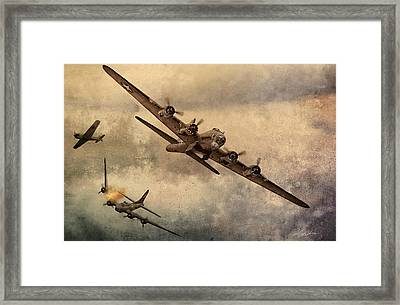 Under Attack Framed Print by Peter Chilelli