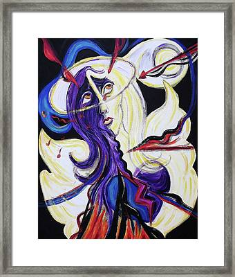 Under Attack Framed Print by Suzanne  Marie Leclair