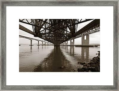 Under Bridges Framed Print by Donna Blackhall