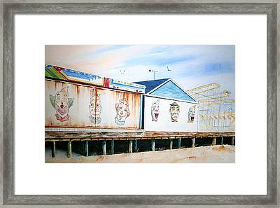 Under The Boardwalk Framed Print by Brian Degnon