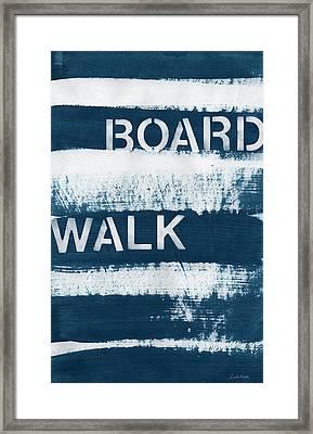 Under The Boardwalk Framed Print by Linda Woods