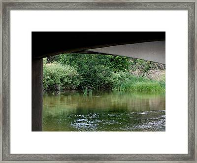 Under The Bridge Framed Print by Ernie Echols