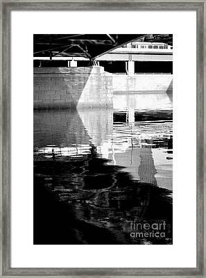 under the bridge - the X Framed Print by Bener Kavukcuoglu