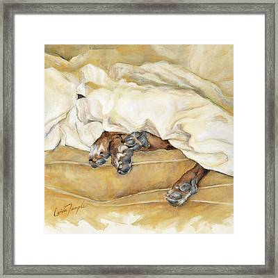 Under The Covers Framed Print by Leisa Temple