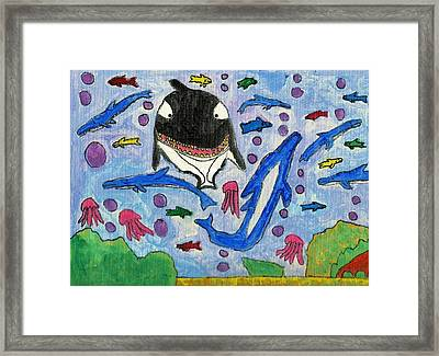 Under The Deep Blue Sea Framed Print by Brandon Drucker