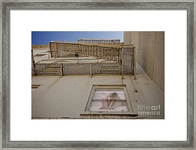 Under The Fire Escape Framed Print by Sherry Davis