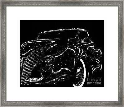 Under The Lights 1939 Ford Framed Print by Matthew Jarrett