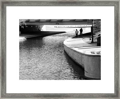 Under The Main Street Bridge Framed Print by Lenore Senior