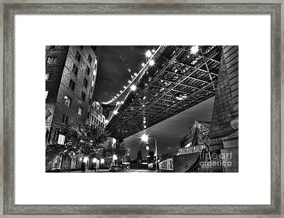 Under The Manhattan Bridge Framed Print by Mark Ayzenberg