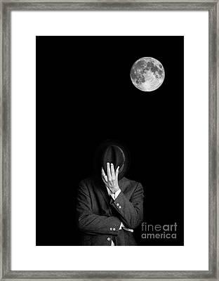 Under The Moonlight The Serious Moonlight Framed Print by Edward Fielding