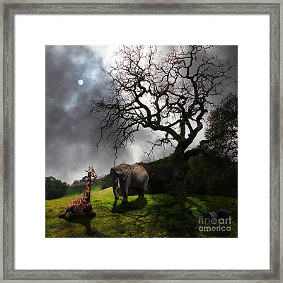 Under The Old Oak Tree - 5d21097 - Square Framed Print by Wingsdomain Art and Photography