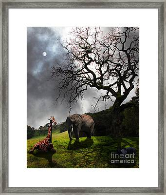 Under The Old Oak Tree - 5d21097 - Vertical Framed Print by Wingsdomain Art and Photography