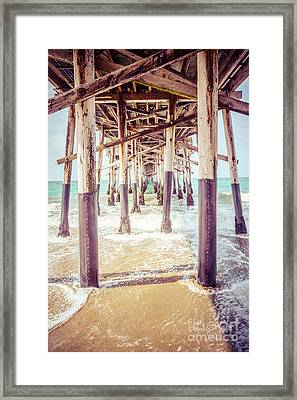 Under The Pier In Southern California Picture Framed Print by Paul Velgos