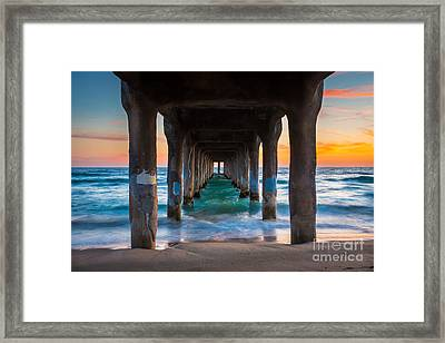 Under The Pier Framed Print by Inge Johnsson