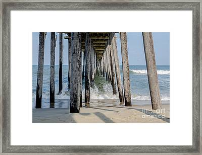 Under The Pier Framed Print by Kay Pickens