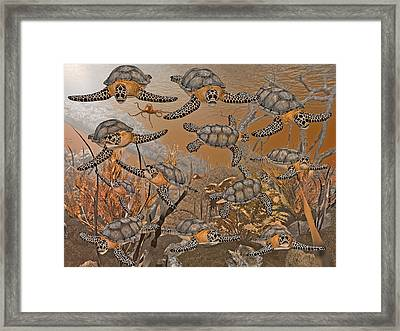 Under The Red Sea II Framed Print by Betsy C Knapp