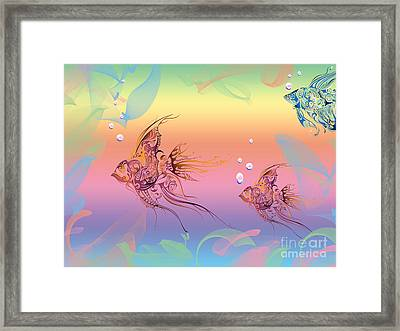 Under The Sea Angel Fish Framed Print by Cheryl Young