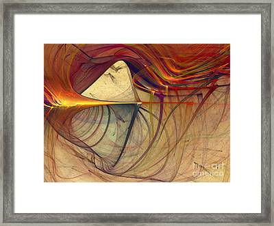 Under The Skin-abstract Art Framed Print by Karin Kuhlmann
