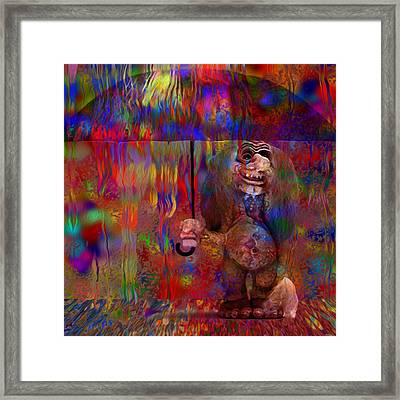 Under The Umbrella Framed Print by Jack Zulli