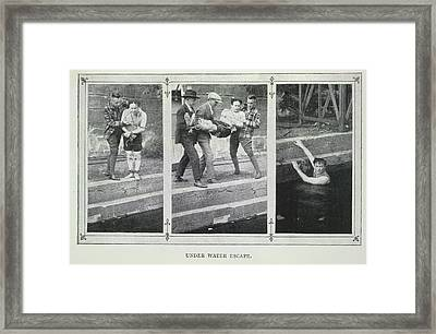 Under Water Escape Framed Print by British Library
