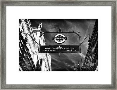 Underground Framed Print by John Rizzuto