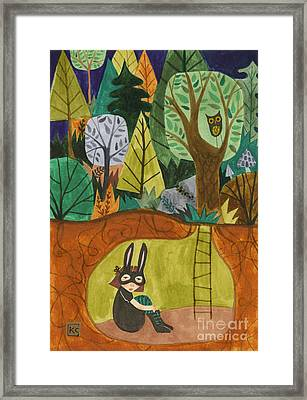 Underground Framed Print by Kate Cosgrove