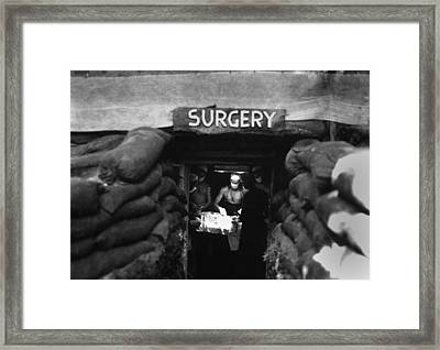 Underground Surgery Room Framed Print by Everett