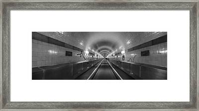 Underground Walkway, Old Elbe Tunnel Framed Print by Panoramic Images