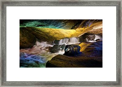 Underground Waterfall 2 Framed Print by Mark Papke