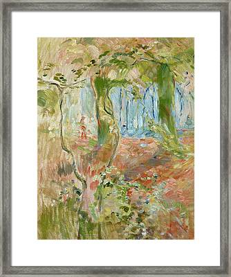 Undergrowth In Autumn Framed Print by Berthe Morisot