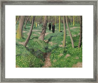 Undergrowth In Spring Framed Print by Felix Edouard Vallotton