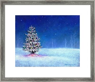 Underneath December Stars Framed Print by Shana Rowe Jackson