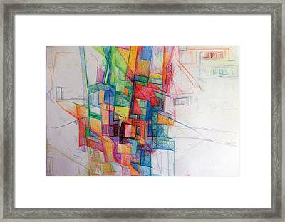 Understanding About Waiting 3 Framed Print by David Baruch Wolk
