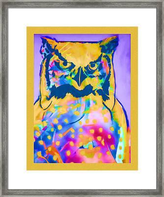 Understated Owl Framed Print by Carol Leigh